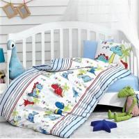 Детское постельное белье в кроватку для новорожденных Dino Mavi Cotton Box