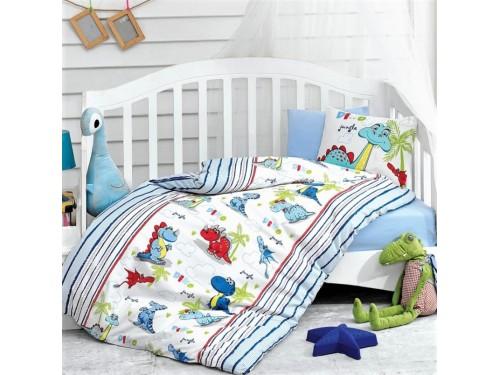 Детское постельное белье в кроватку для новорожденных Dino Mavi 08007756 от Cotton box в интернет-магазине PannaTeks