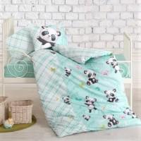 Детская постель для новорожденных Panda Mint ранфорс