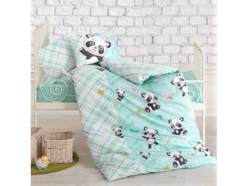 Детская постель для новорожденных Panda Mint ранфорс Cotton Box Турция 08007777 от Cotton box в интернет-магазине PannaTeks
