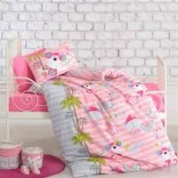 Детское постельное белье для новорожденных в кроватку Sevimli Maymunlar Pembe