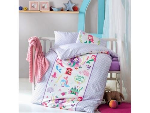 Детское белье в кроватку Deniz Kizi Lila ранфорс Cotton Box Турция 08007787 от Cotton box в интернет-магазине PannaTeks