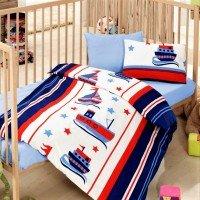 Детское постельное белье в кроватку Denizci Mavi ранфорс Cotton Box
