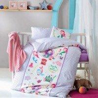 Детское белье в кроватку Deniz Kizi Lila ранфорс Cotton Box Турция