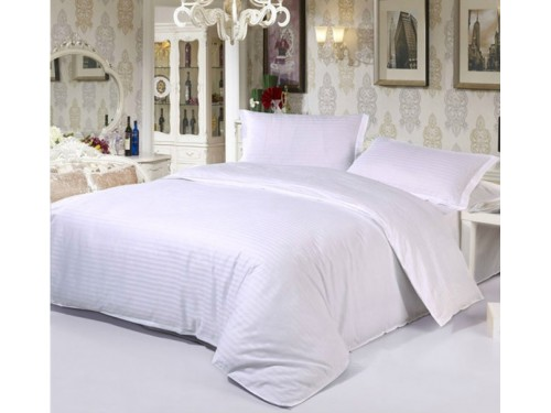 Постельное белье бязь белая в полоску белая в полоску от Комфорт Текстиль в интернет-магазине PannaTeks