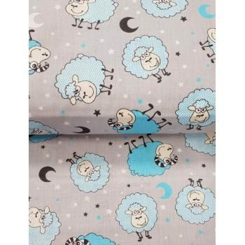 Детское постельное белье бязь Барашки бирюза Барашки бирюз от Комфорт Текстиль в интернет-магазине PannaTeks