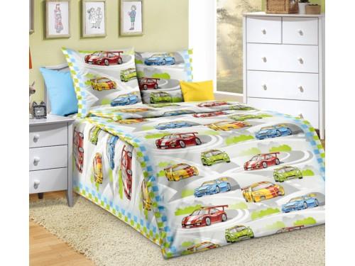 Детское постельное белье в кроватку бязь Гонки Гонки от Комфорт Текстиль в интернет-магазине PannaTeks