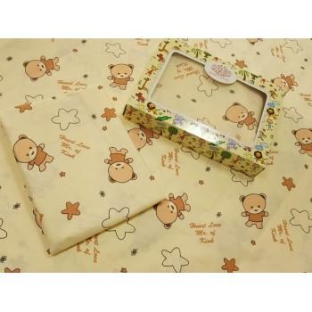 Детское постельное белье в кроватку бязь Мишутки