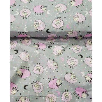 Детское постельное белье бязь Барашки розовые Барашки розов от Комфорт Текстиль в интернет-магазине PannaTeks