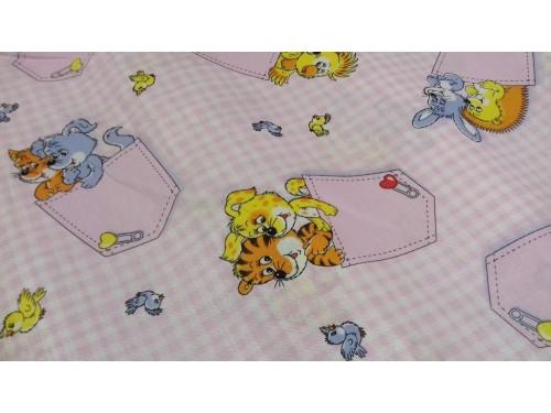 Детское постельное белье в кроватку бязь Кармашки розовые Кармашки  от Комфорт Текстиль в интернет-магазине PannaTeks