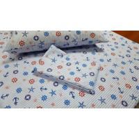 Детское постельное белье в кроватку поплин Круиз