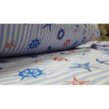 Детское постельное белье в кроватку поплин Круиз фото 1