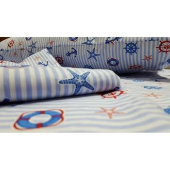Детское постельное белье в кроватку поплин Круиз фото 2