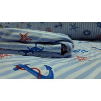 Детское постельное белье в кроватку поплин Круиз фото 3