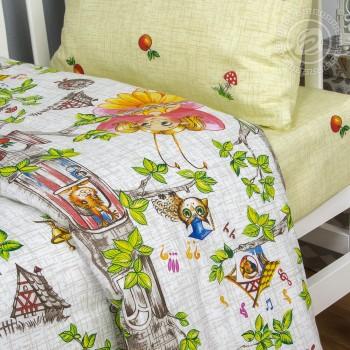 Детское постельное белье в кроватку поплин Лесные феи фото 1