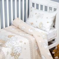 Детское постельное белье в кроватку поплин Медвежата