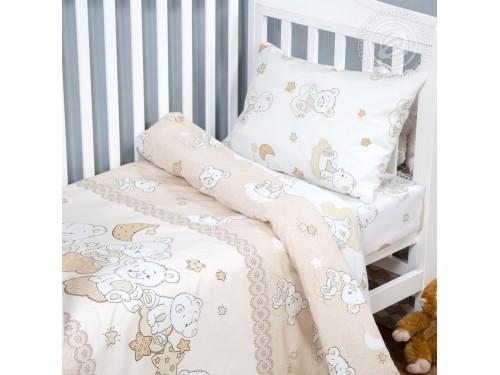 Детское постельное белье в кроватку поплин Медвежата Медвежата от Комфорт Текстиль в интернет-магазине PannaTeks