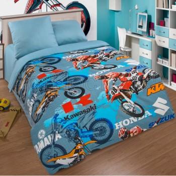 Детское постельное белье для мальчика поплин Мотокросс Мотокросс от Комфорт Текстиль в интернет-магазине PannaTeks