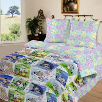 Детское постельное белье поплин Мурзик фото 1