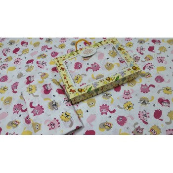 Детское постельное белье в кроватку бязь Няшки