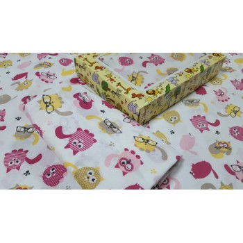 Детское постельное белье в кроватку бязь Няшки фото 1