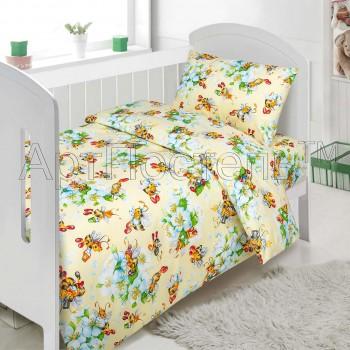 """Постельное белье в кроватку поплин """"Пчелки"""""""