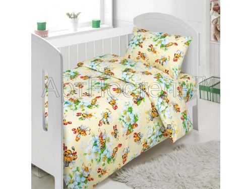 Детское постельное белье в кроватку поплин Пчелки Пчелки от Комфорт Текстиль в интернет-магазине PannaTeks
