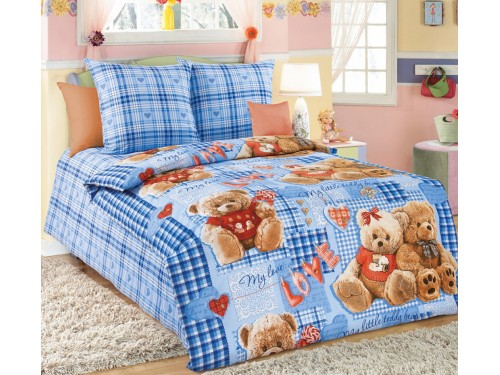 Детское постельное белье в кроватку бязь Плюшевые мишки Плюшевые мишки от Комфорт Текстиль в интернет-магазине PannaTeks