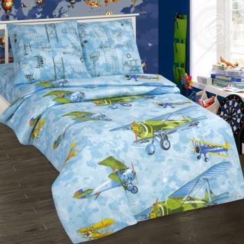 Детское постельное белье для мальчика поплин Авиаторы Авиаторы от Комфорт Текстиль в интернет-магазине PannaTeks