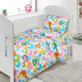 Детское постельное белье в кроватку поплин Праздник Праздник от Комфорт Текстиль в интернет-магазине PannaTeks