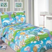 Детское постельное белье в кроватку поплин Путешествие
