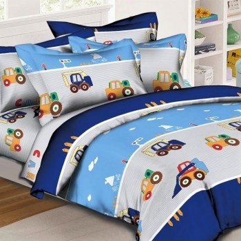 Детское постельное белье с машинками Транспорт ранфорс 0959 от Комфорт Текстиль в интернет-магазине PannaTeks