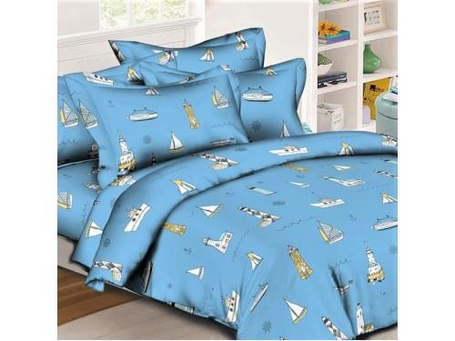 Детское постельное белье для мальчика Паруса ранфорс 0960 от Комфорт Текстиль в интернет-магазине PannaTeks