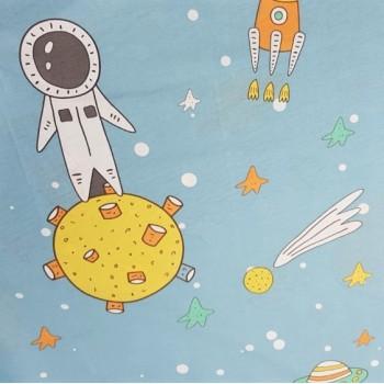 Детское постельное белье Космонавт ранфорс фото 1