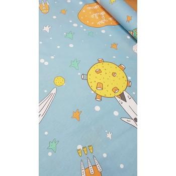 Детское постельное белье Космонавт ранфорс фото 2