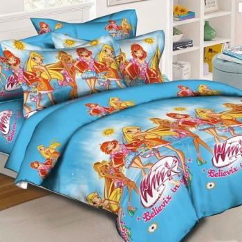 Детское постельное белье для девочки Клуб Винкс ранфорс 0963 от Комфорт Текстиль в интернет-магазине PannaTeks