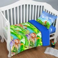 Детская постель в кроватку София и Волшебная Страна ранфорс