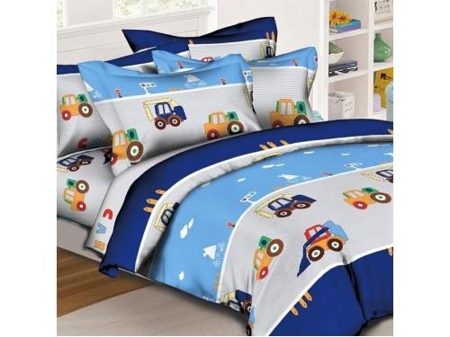 Постель в кроватку для новорожденного Транспорт ранфорс 0981 от Комфорт Текстиль в интернет-магазине PannaTeks