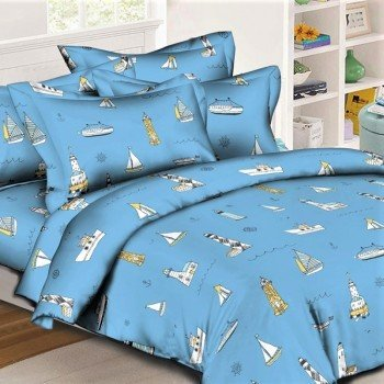 Детское постельное белье для мальчика Паруса ранфорс