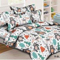 Детское постельное белье в кроватку ранфорс Лукоморье