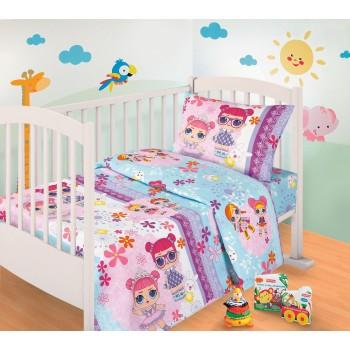 Детское постельное белье в кроватку бязь Сестрички LOL