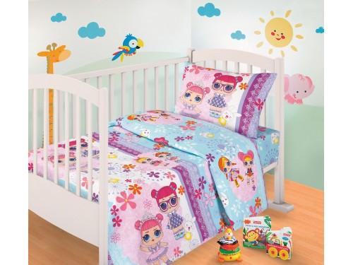 Детское постельное белье в кроватку бязь Сестрички LOL Сестрички LOL от Комфорт Текстиль в интернет-магазине PannaTeks
