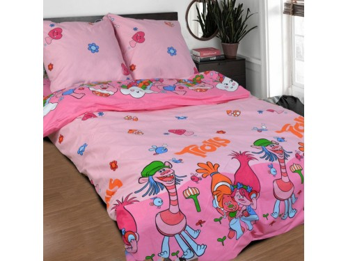 Детское постельное белье бязь Яркие Тролли Тролли от Комфорт Текстиль в интернет-магазине PannaTeks