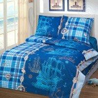 Детское постельное белье в кроватку бязь Бригантина