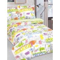 Детское постельное белье для девочки поплин Краски Города
