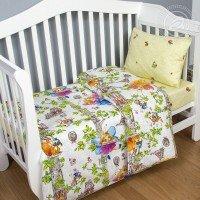 Детское постельное белье в кроватку поплин Лесные феи