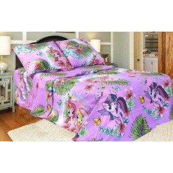 Детское постельное белье в кроватку бязь Литл Пони