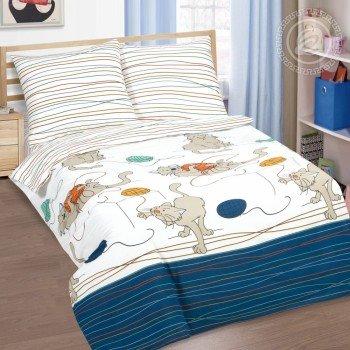 Детское постельное белье поплин Мягкие лапки