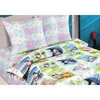 Детское постельное белье поплин Мурзик