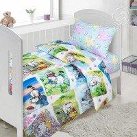 Детское постельное белье в кроватку поплин Мурзик